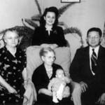 Ida Arenson, Dolores Palmer, Walter Arenson, Ingri Evenson, Terry Palmer  1948