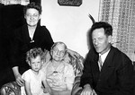 Sarah Berg, Glenna Berg, Ingri Evenson, Clifford Berg, 1950