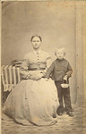 Sam Evenson and sister Kari, ca 1865